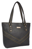 Aliado Faux Leather Black              Coloured Zipper Closure Handbag