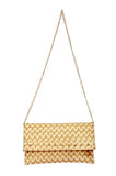 Envie Faux Leather Golden  Embellished Sling Bag
