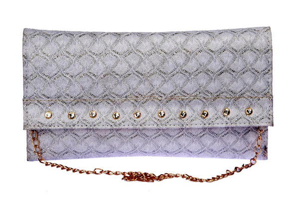 Envie Faux Leather Silver Solid Sling Bag