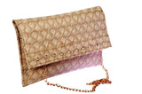 Envie Faux Leather Beige Colour Solid Embellished Sling Bag