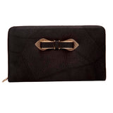 Envie Black Zipper Closure Clutch  for Women