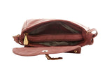 Envie Faux Leather Solid Peach Magnetic Snap Crossbody Bag -3