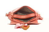 Envie Faux Leather Solid Peach Magnetic Snap Sling Bag