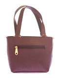 Envie Faux Leather Coffee Brown Embellished Zipper Tote Bag