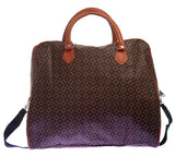 Aliado Faux Leather Printed Black & Brown Zipper Closure Handbag