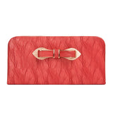 Envie Faux Leather Brown Coloured Zipper Closure Clutch for Women