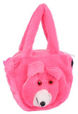 Envie Faux Fur   Pink  Coloured Zipper Closure Bag