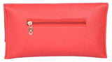 Envie Faux Leather Rose Coloured Magnetic Snap Sling Bag