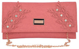 Envie Faux Leather  Peach Magnetic Snap Closure Crossbody Bag - 1