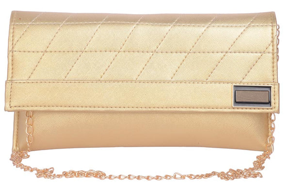 Envie Faux Leather  Golden  Magnetic Snap Closure Crossbody Bag