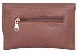 Envie Faux Leather Coffee Brown Coloured Magnetic Snap Sling Bag