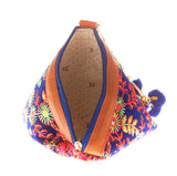 Envie Cloth/Textile/Fabric Blue & Multi Embroidered Potli Bag