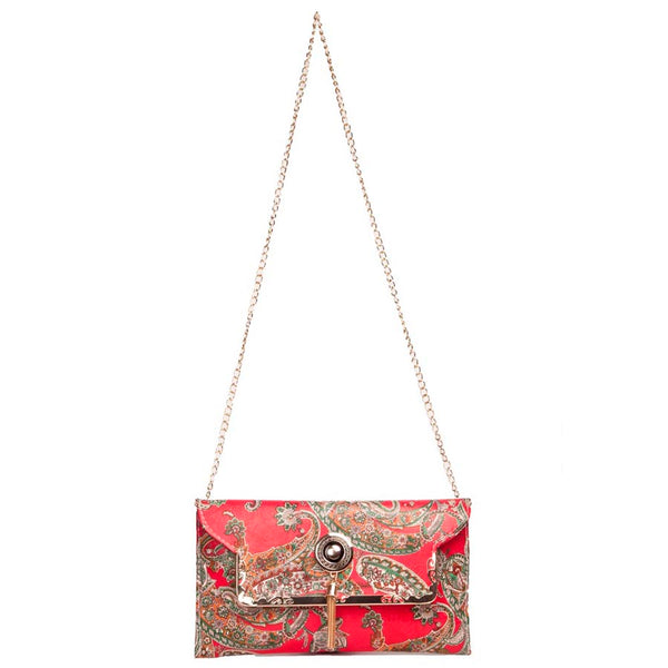 Envie Red and Multi Coloured Sling Bag