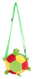 Envie Faux Fur Green, Red and Yellow  Coloured Zipper Closure Sling Bag