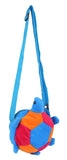 Envie Faux Fur Blue, Pink and Orange Coloured Zipper Closure Sling Bag