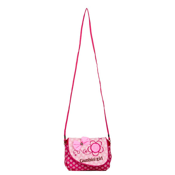 Envie  Printed Pink & White Zipper Closure Sling Bag