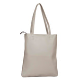 Envie Faux Leather Grey Melange Coloured Zipper Closure Tote Bag