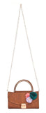 Envie Faux Leather Printed Brown Fold Over Tuck Lock Sling Bag for Women