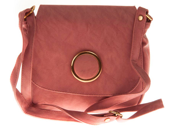 Envie Faux Leather Printed Pink Magnetic Snap Sling Bag