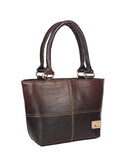 Aliado Faux Leather Brown Coloured  Zipper Closure Bag