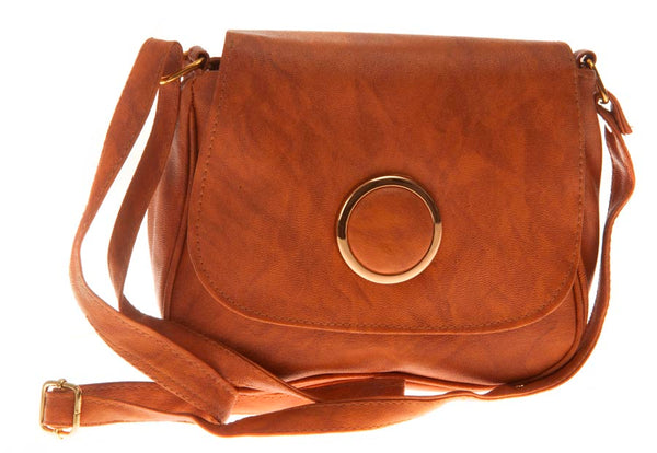 Envie Faux Leather Printed Brown Magnetic Snap Sling Bag