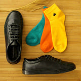 Trendy Lace Up Sneakers With Textured Surface and Pack of 3 Socks for Men