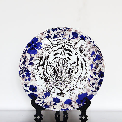 Tiger Blue-Wall Plate (Small)