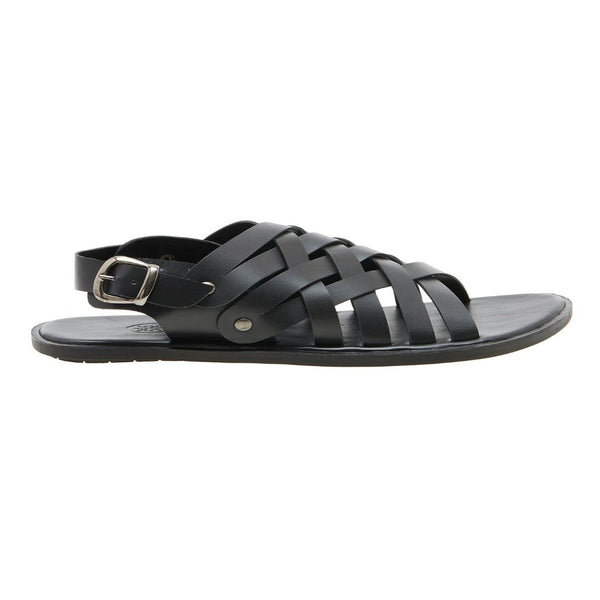 Sicily Black Men's Gladiator Sandals
