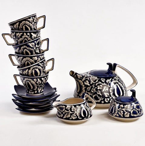 Mughal Work Hand Painted Tea Set of 15 pcs