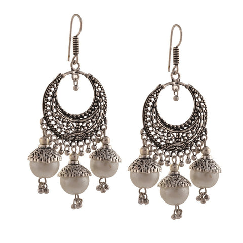 Chica Fashion Jewellery By Fizz : Chandbali Pearl Jhumki Earrings