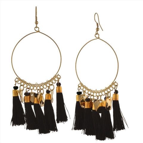 Chica Fashion Jewellery By Fizz : Black Round Earrings