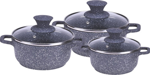 Wonderchef Granite Die-Cast Casserole Set