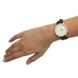 Carol Women's Analog Rainbow Dial Watch: Black