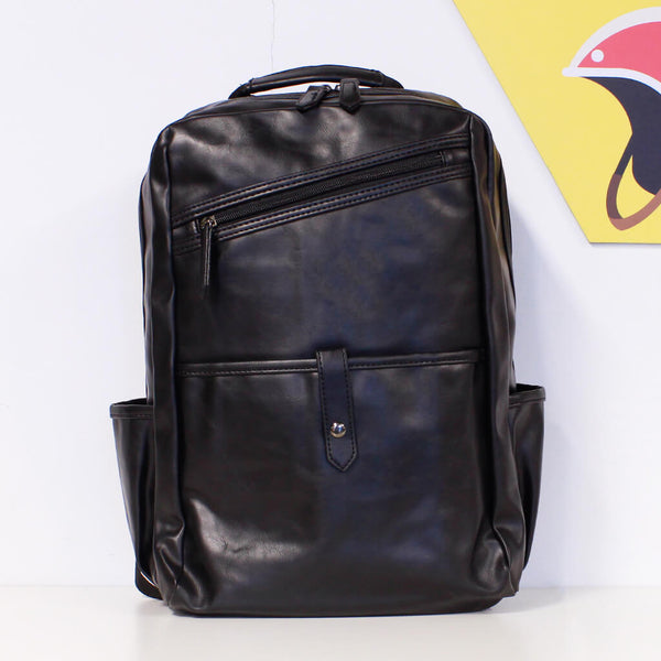 Unisex Faux Leather Backpack