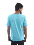 Men's Printed Tees By Fizz: Journey of Life Blue