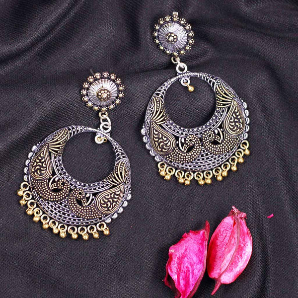 Silver Two Tone Peacock Earrings