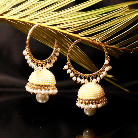 Pearl Jhumki Earrings