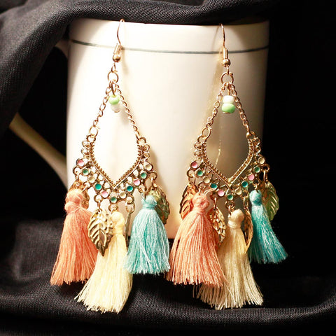 Multicolor Thread Earrings