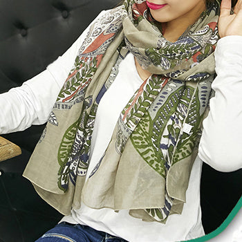 Multicolor Cotton Scarf