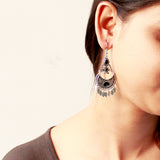 Oxidized Silver Dangler Earrings
