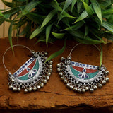 German Silver Afghani Dangler Earrings