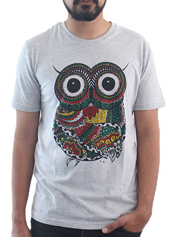 Men's Printed Tees: Wise Owl