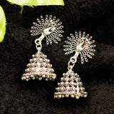 Peacock Jhumki Earrings