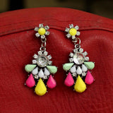 Multicolor Gemstone Earrings