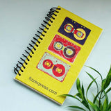 Mercury Date & Time Watch, Retro Wire Bound Notepad