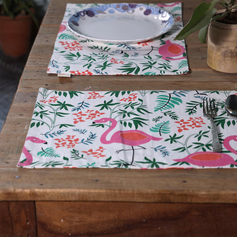 Fanusta Nishaat Duck Cotton Table Mats (Set of 6)