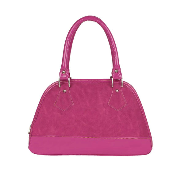 Aliado Faux Leather Solid Pink Zipper Closure Party/Wedding  Bag