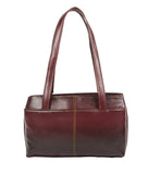 Aliado Faux Leather Solid Brown & Coffee Brown Zipper Closure  Handbag