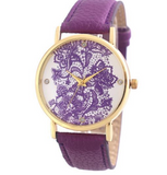 Octa Horn Rimmed Round Sunglasses & Floral Collection Watch