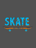 Women's Printed Tees: Skater Design